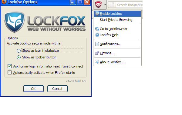 Lockfox Add-On for Firefox