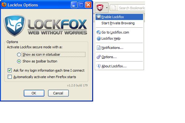 Lockfox Add-On for Firefox
